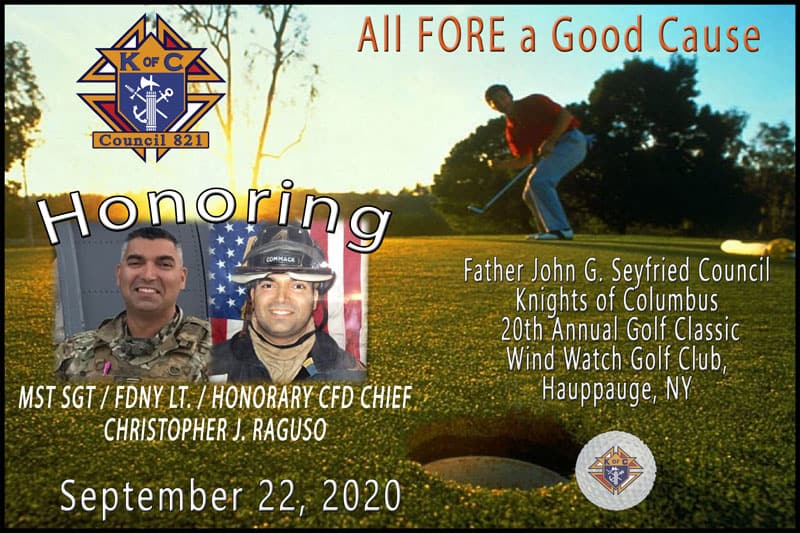 "Knights of Columbus ""All FORE a Good Cause"" Golf Outing - 9/22/20"