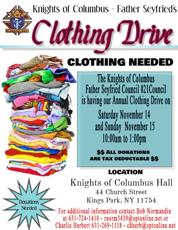 KOC Clothing Drive
